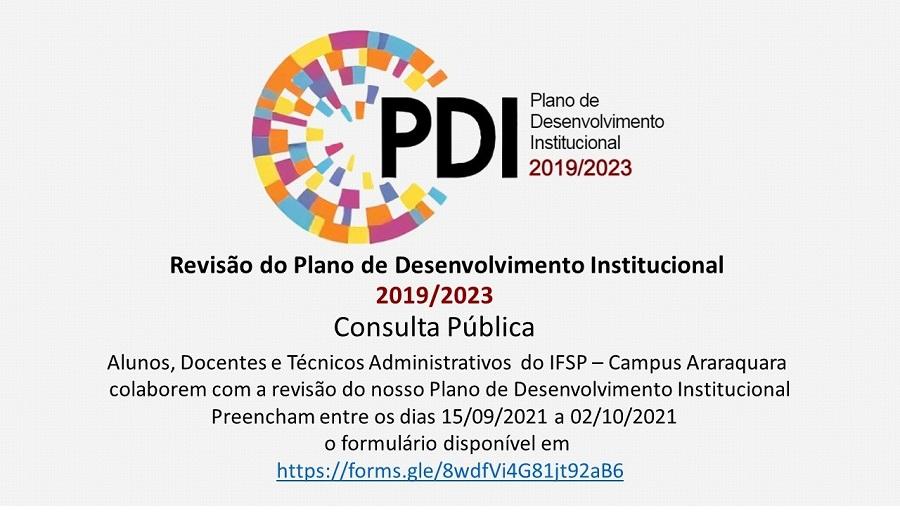 Consulta Pública - Revisão do PDI 2019/2023