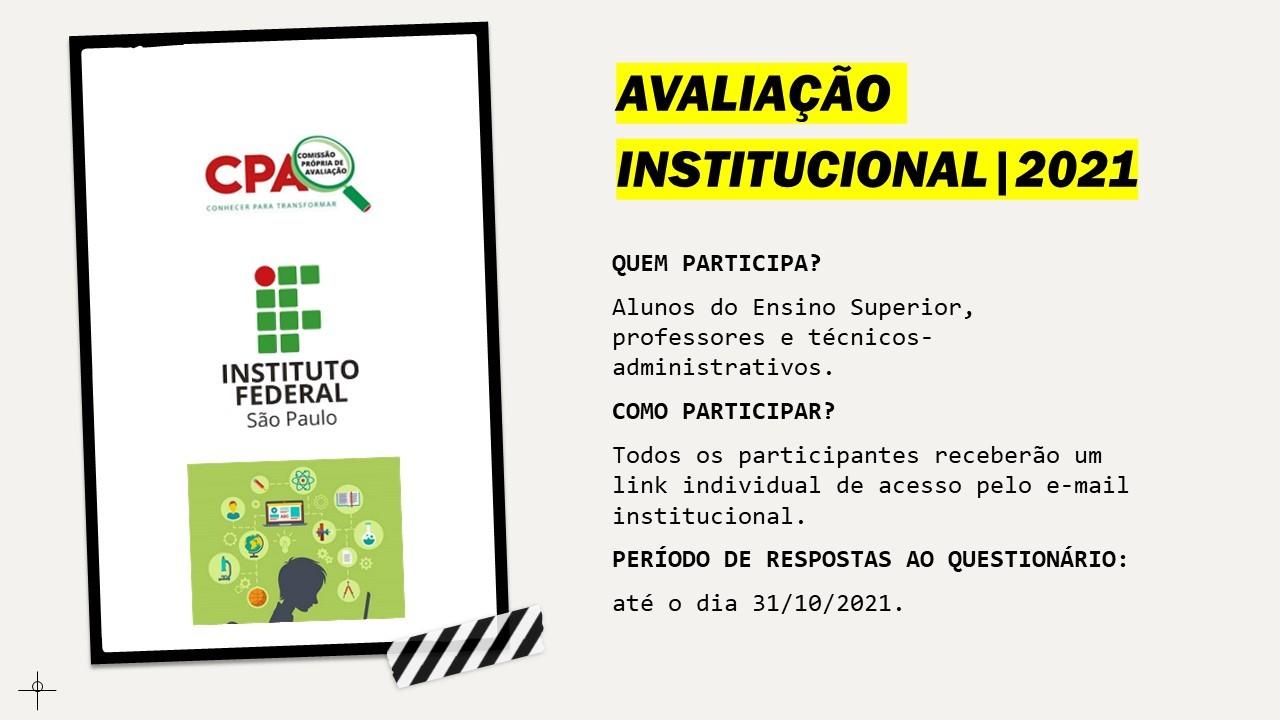Participem da Avaliação Institucional
