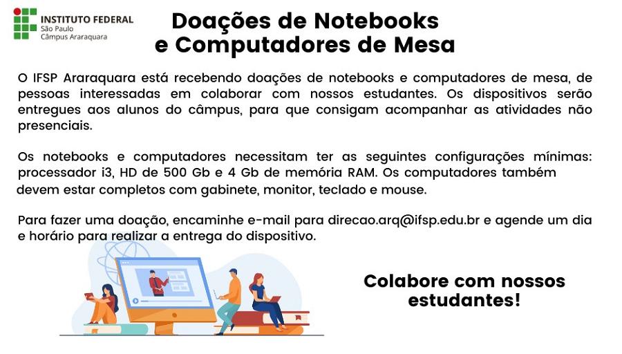 Doações de Notebooks e Computadores