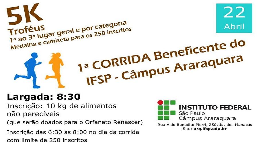 1ª CORRIDA BENEFICENTE IFSP ARARAQUARA